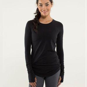 Lululemon Karma Black Long Sleeve Tee Size 4